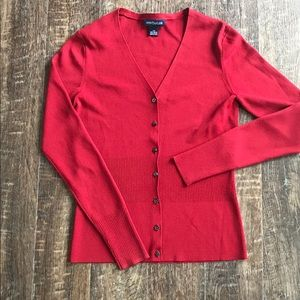 Ann Taylor Red sweater cardigan